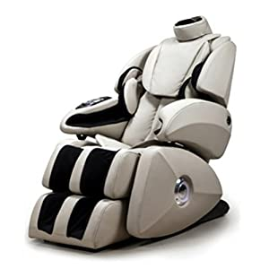 Osaki OS-7075RC model OS-7075R Executive ZERO GRAVITY, S-Track Deluxe Massage Chair, Creme, Synthetic Leather