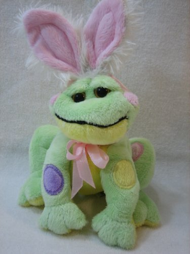 "Ganz Frabbit - 8 1/2"" Plush with Pink Ears and Colored Eggs Spots - 1"