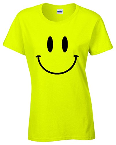 Acid House Smiley Face Neon Ladies T-shirt - 8 to 16