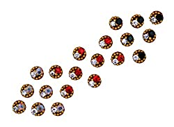 Sunaina Premium Collection Small Size Round Bindis for Women [SPC558]