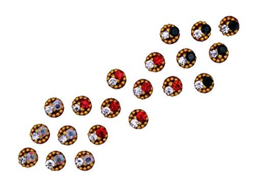 Sunaina Premium Collection Small Size Round Bindis for Women [SPC558]