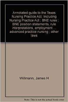 Texas nurse practice act discussion