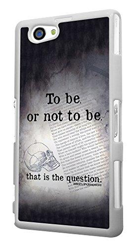 513 - Shakespeare Skull To Be or not to Be Design für Alle Sony Xperia Z / Sony Xperia Z1 / Sony Xperia Z2 / Sony Xperia Z3 / Sony Xperia Z4 / Sony Xperia Z1 Compact / Sony Xperia Z2 Compact / Sony Xperia Z3 Compact / Sony Xperia Z4 Compact / Sony Xperia M2 / Sony Xperia M4 Fashion Trend Hülle Schutzhülle Case Cover Metall und Kunststoff - Bitte wählen Sie Ihr Telefonmodell und Farbe aus der Dropbox