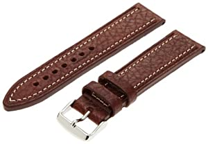 Hadley-Roma Men's MSM894RB-220 22-mm Brown Genuine Leather WatchStrap