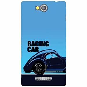 Sony Xperia C Back Cover - racing car Designer Cases