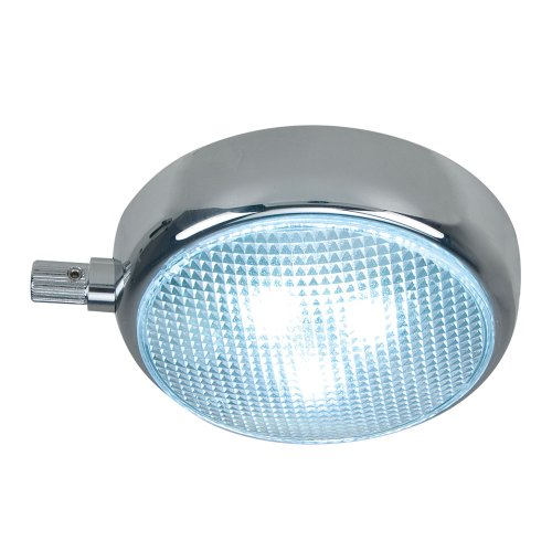 The Amazing Quality Perko Round Surface Mount Led Dome Light W/Adjustable Dimmer - Chrome Plated
