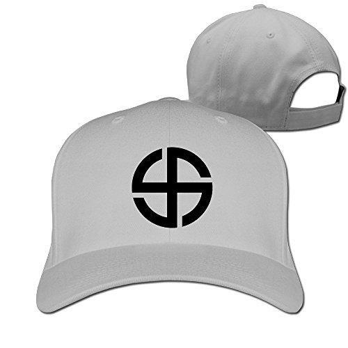 NUBIA Crossed Circle Baseball Peaked Hat Flexfit Cap Ash