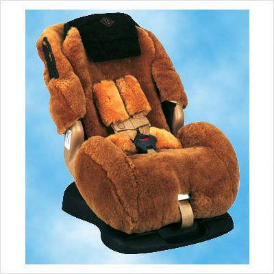 Custom Sheepskin Convertible Car Seat Cover Model Britax Husky Regent Color Charcoal Overview