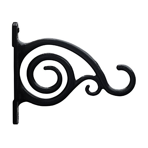 GrayBunny GB-6836 Fancy Curved Hook, Set of 2, Black, Cast Iron Wall Hooks For Bird Feeders, Planters, Lanterns, Wind Chimes, As Wall Brackets and More! (Cast Iron Cowboy Hook compare prices)