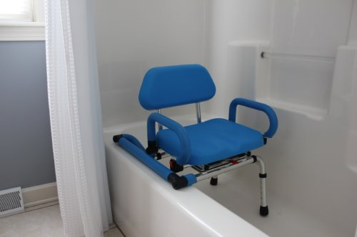 platinum health bath and shower chair with padded swivel