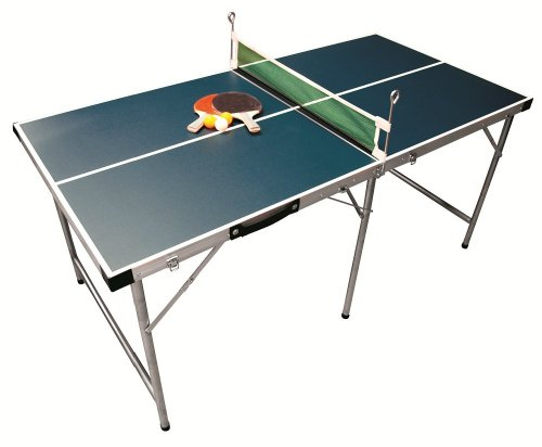 5FT FOLDABLE PORTABLE TABLE TENNIS PING PONG TABLE - GREEN