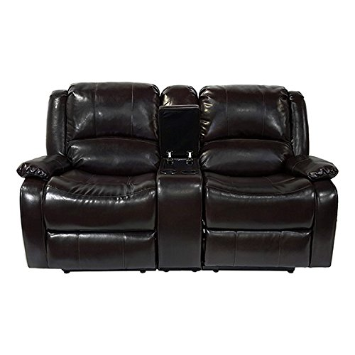 Recpro Charles 67 Double Rv Zero Wall Hugger Recliner Sofa W Console Espresso By Recpro At The