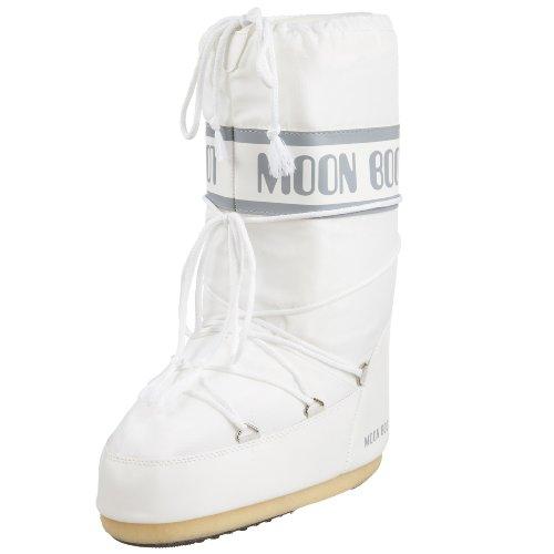 Tecnica Unisex Moon Nylon Winter Fashion Boot, White, 42-44 EU, 9-10.5 US Men's, 11-12.5 US Women's (Tecnica Shoes compare prices)