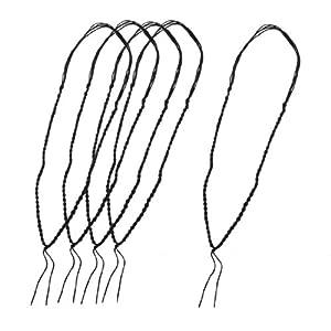 5 Pcs Black Nylon Four Strand String Braided Necklace Cords
