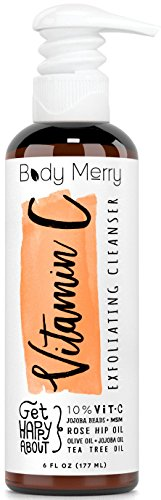 Vitamin C Exfoliating Cleanser- Daily Anti-Aging Face Wash w 10% Vitamin C to Unclog Pores & Deep Clean Dirt, Oil & Grime - Packed with Jojoba + Best Natural Rosehip & Tea Tree Oils to help w Acne (Wash Feet Machine compare prices)