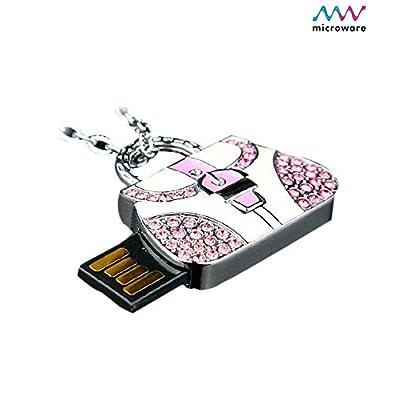 Microware 16 GB Handbag Metal Lady Bag ShMicroware Designer Pen Drive
