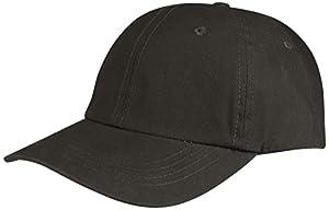 Juniper Sun Hats Low Profile (Unconstructed) Waxed Cotton Canvas Cap, One Size, Black