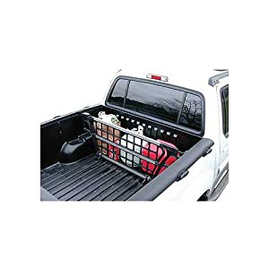 Cargo Bed Gate For Mitsubishi ~ Montero ~ 2002-2003 Black/Aluminum XLS Model, Adjustable width 54-3/4 to 58-3/4, height 17.