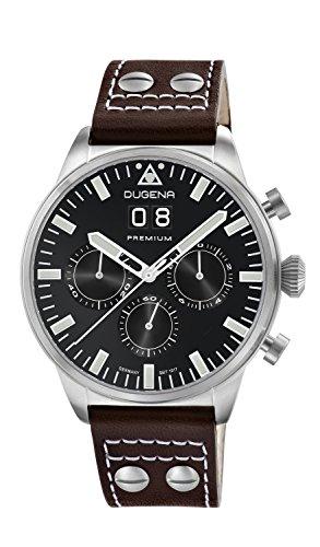 Dugena Premium  - Reloj de cuarzo para hombre, con correa de cuero, color marrón