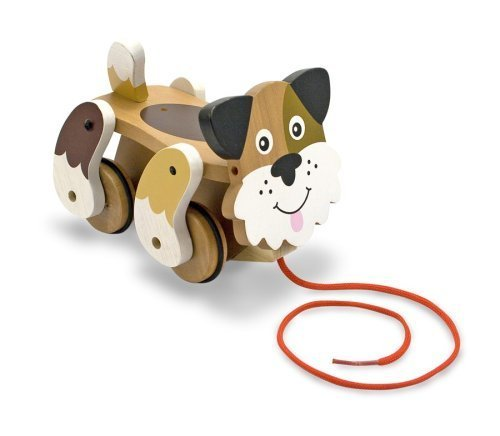 Melissa & Doug Playful Puppy Pull Toy back-1062724