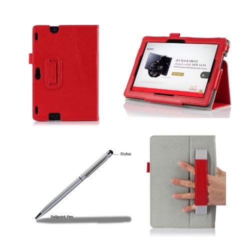 procase new kindle fire hdx 8 9 case with bonus stylus pen flip