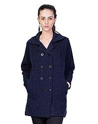 Montrex Blue Designer Long Coat For Women