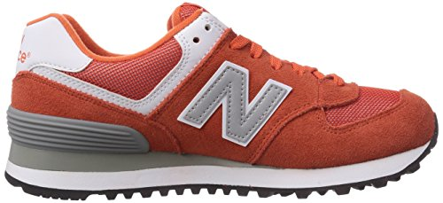 888546369627 - New Balance Men's ML574 Picnic Pack Collection Classic Running Shoe, Orange/Silver, 7 D US carousel main 6