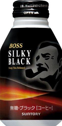 サントリー コーヒーボス シルキーブラック 300g×24本