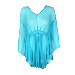 2014 New Sexy Voile Sunscreen Transparent Long Sleeve Shirt Beach Swim by IdealHome