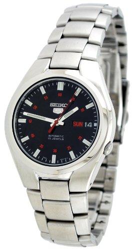Seiko Men's SNK617 Seiko 5 Automatic Black Dial Stainless Steel Watch