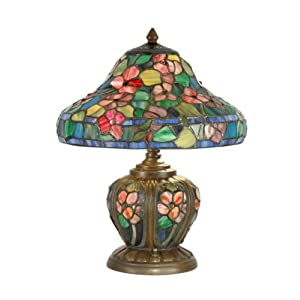dale tiffany tt90170 eden table lamp antique bronze and art glass. Black Bedroom Furniture Sets. Home Design Ideas