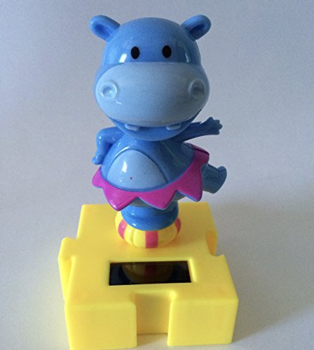 #010 Pink and Blue Cutie Hippo Solar Dancing Animal Circus Show Toys (Japanese Robot Dog compare prices)
