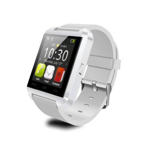 Amxbobo U8 Model Touch Screen Bluetooth Watch International Smart Wrist Wrap Watch Phone For Android Os G1-G8 Moto Htc (White)