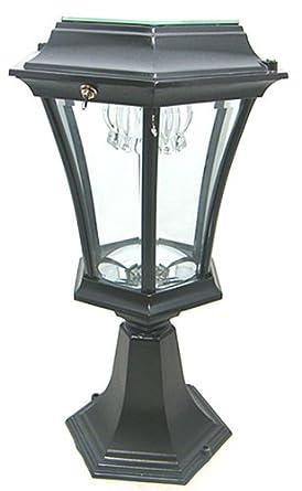 welhome bollard light garden pedestal solar lamps