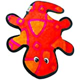 Outward Hound 32071 Invincibles Plush Gecko Stuffingless Durable Dog Toys Squeaker Toy 2-Squeaker, Small, Red Orange