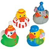 12 Circus Carnival Theme Rubber Ducky Party Favors