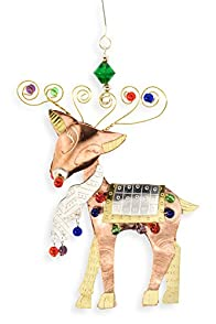 Pilgrim Imports Country Reindeer Fair Trade Christmas Ornament