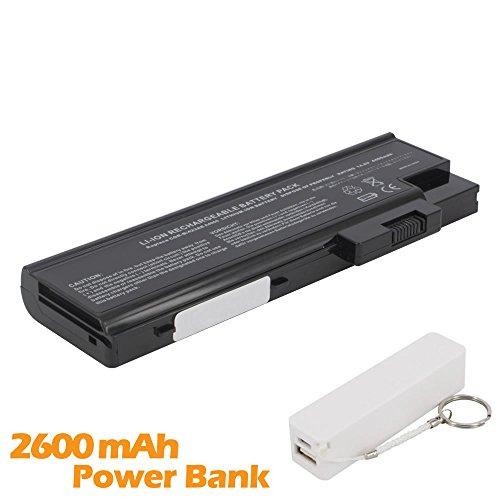 Battpit Batterie d'ordinateur Portable de Remplacement pour Acer Aspire 1696 (4400mah / 65wh ) avec 2600mAh de banque de puissance / batterie externe