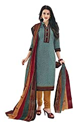 PRIYALAXMI Women's Cotton Unstitched Dress Material (Multi-Coloured)