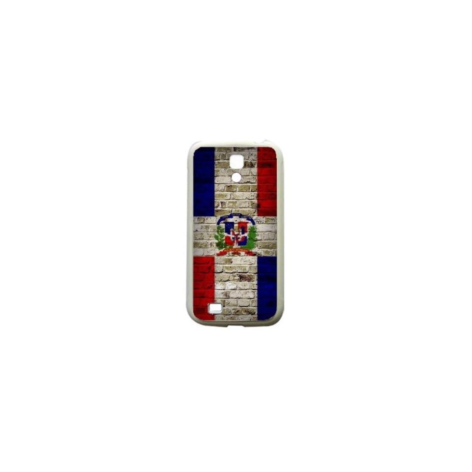 Dominican Republic Brick Wall Flag Samsung Galaxy S4 White Silcone Case   Provides Great Protection