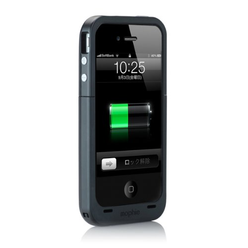 【日本正規代理店品】mophie juice pack plus for iPhone 4S/4 ブラック MOP-PH-000010