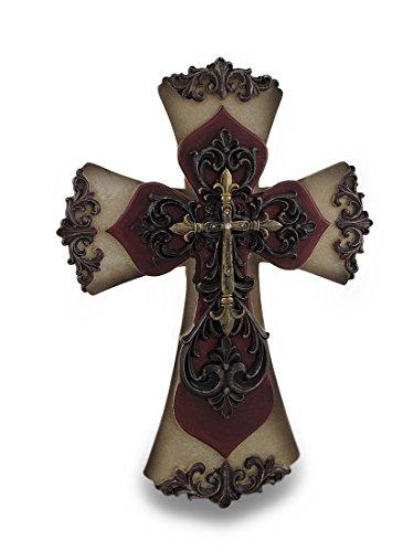Ornate Christian Wall Cross W/ Rhinestone Accents