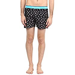 Atorse White Printed Mens Casual Navy Boxer