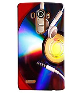 Blue Throat Cd With Ear Phones Printed Designer Back Cover/Case For LG G4