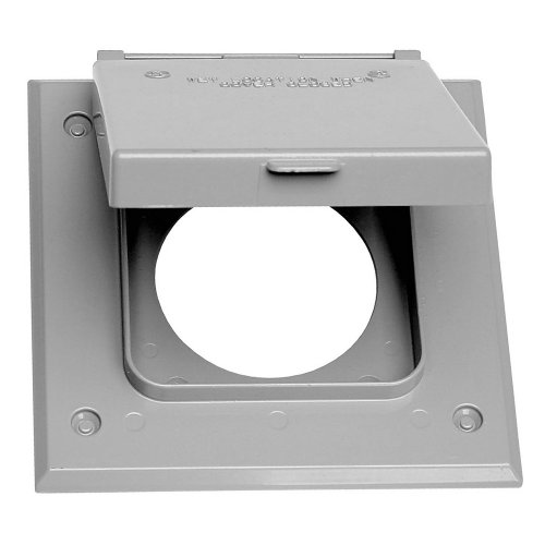 Sigma Electric 14321 2-Gang 20-50 Amp Outlet Cover, Grey
