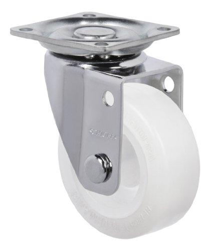 "Schioppa, Glap 210 Citrus White, 2"" (50 Mm) Swivel, Non-Brake, Non-Marking Polyethylene Wheel, 90 Lbs, Plate: 1-21/32 X 1-21/32"" (Bh 1-1/4 X 1-1/4"") front-359037"