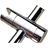 tinxi® Barre avec encoche pour pommeau de douche Chromé 22-25 mm gris