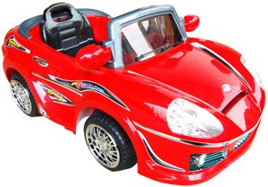 KIDS RIDE ON RADIO REMOTE CONTROL WHEELS POWER CAR MP3 CANDY APPLE RED ELECTRIC SPORTS CAR