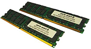 4GB Kit 2 x 2GB Memory for Dell PowerEdge 2850 Server PC2-3200R ECC Registered DDR2-400 240 pin 1.8v DIMM (PARTS-QUICK BRAND)