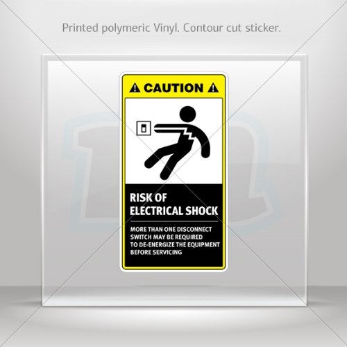 Decals Decal Caution Risk Of Electrical Shock. More Than One Disconnect Switch May Be Required.. 0500 X859W